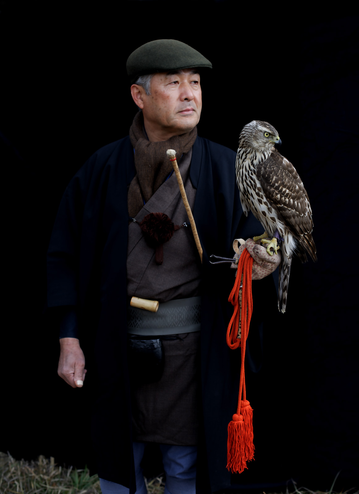 "Zenjiro Tagomori and goshawk    £500.00    Hahnemuhle Photo Silk Baryta fine art print, signed limited edition of 10    Size: 14.5"" x 11.5"""