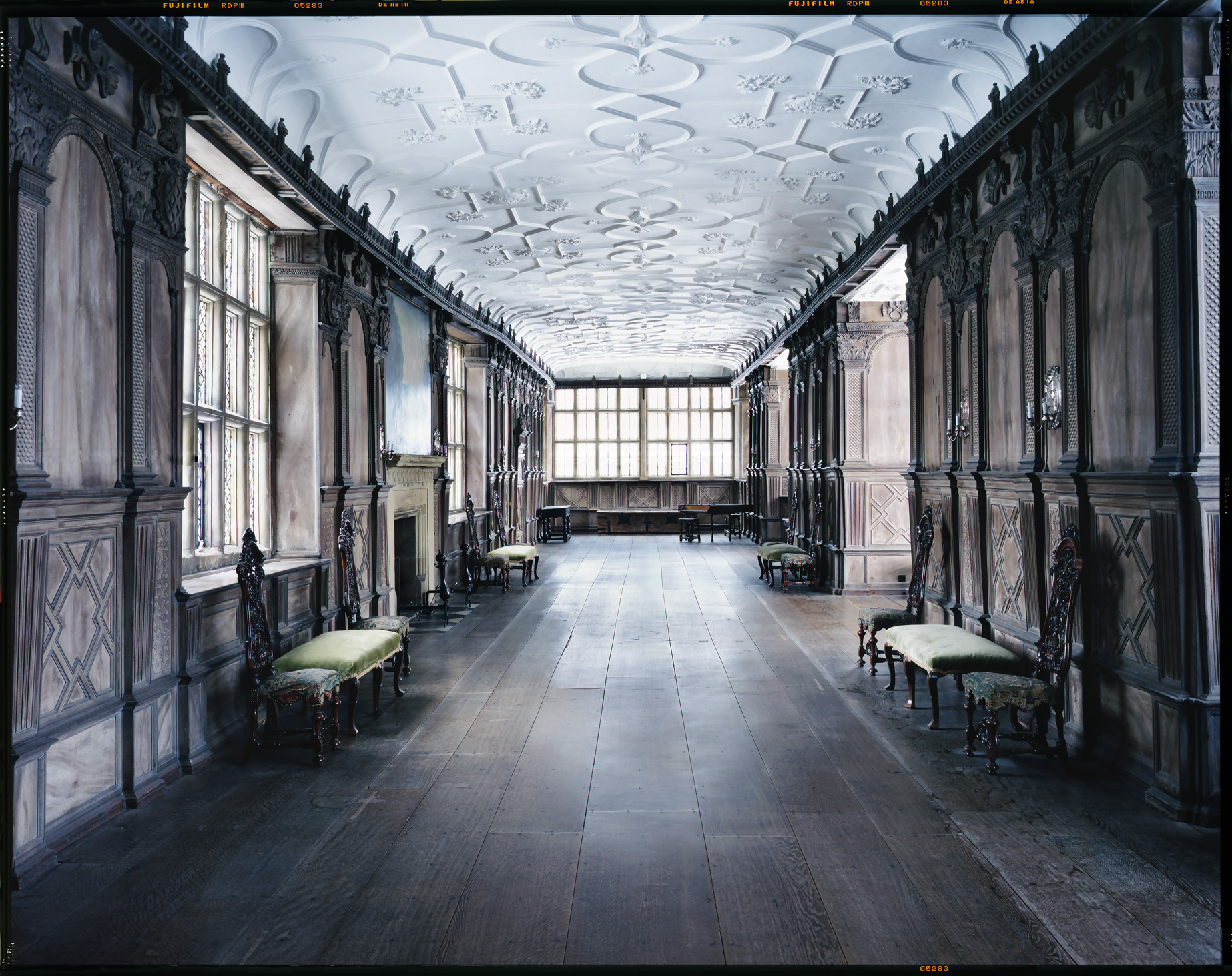 "Long Gallery, Haddon Hall    £500.00    Hahnemuhle Photo Silk Baryta fine art print, signed limited edition of 10    Size: 16"" x 12"""