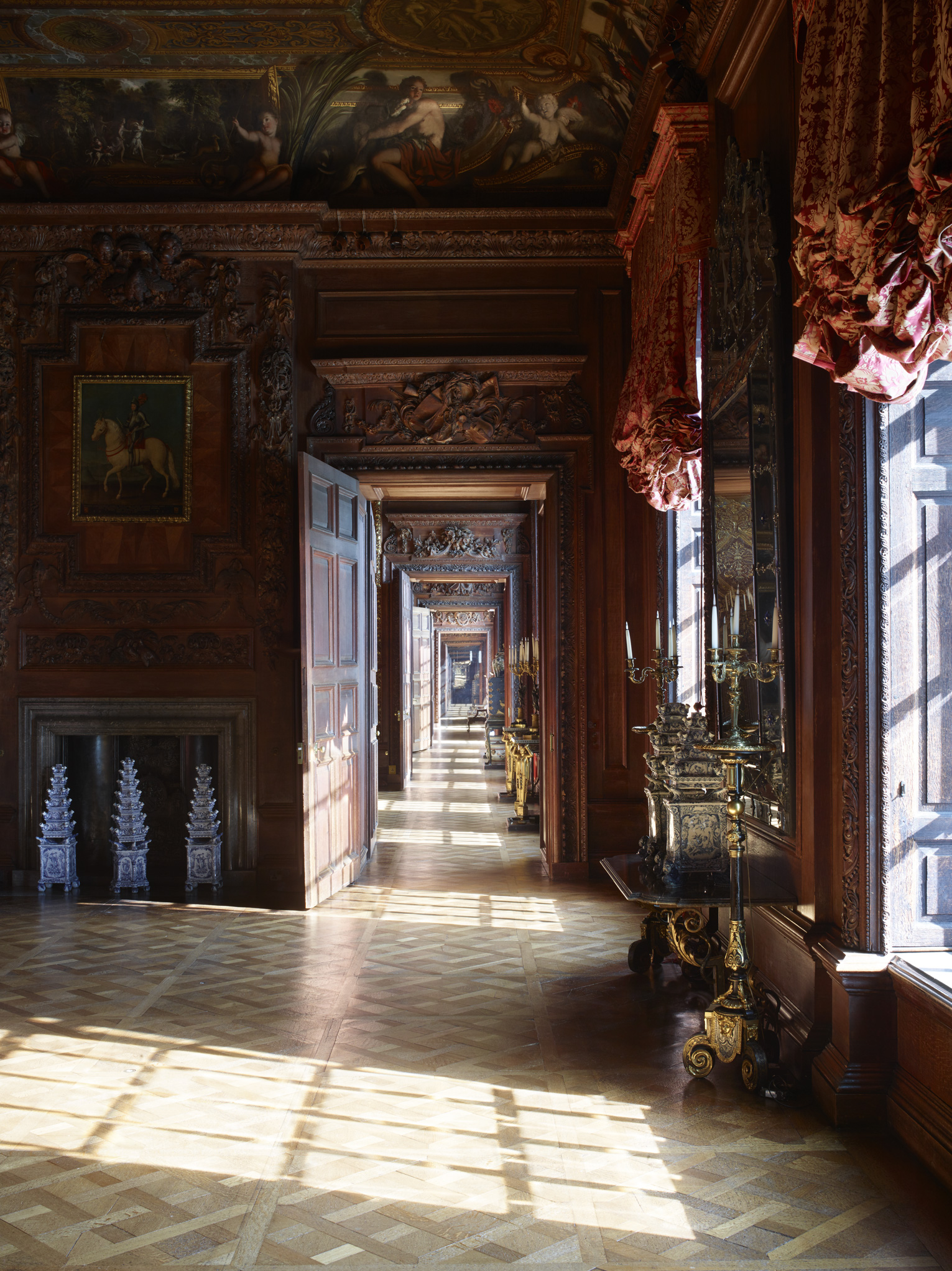 "Enfilade of State Rooms, Chatsworth House    £500.00    Hahnemuhle Photo Silk Baryta fine art print, signed limited edition of 10    Size: 16"" x 12"""